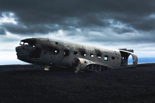 Airplane Wreckage in Iceland